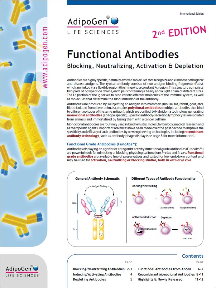 Functional Antibodies Product Flyer 2015