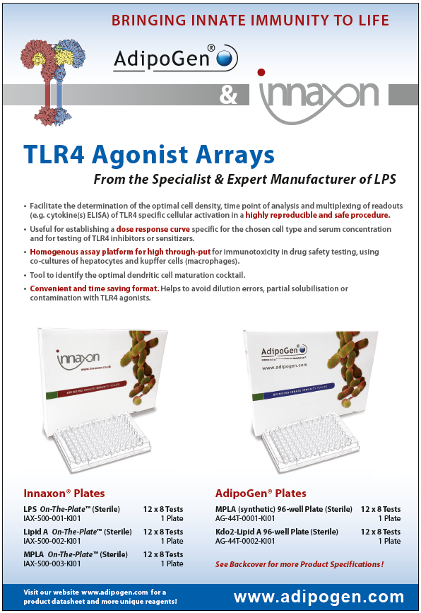 TLR4 Agonist - LPS Plates Product Flyer 2014