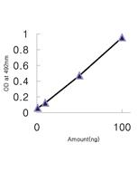 Binding to globular domain of adiponectin by direct ELISA using anti-Adiponectin (human), mAb (ADI 943) (Prod. No. AG-20A-0056).