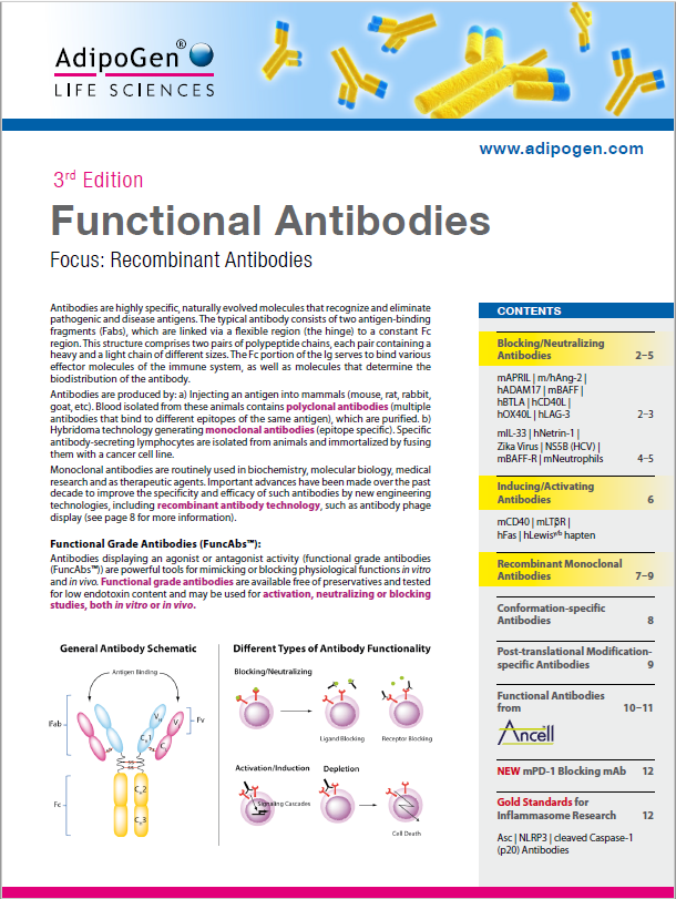 Functional Antibodies 2018