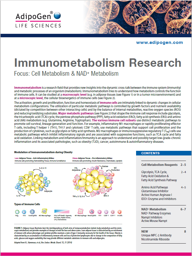 Immunometabolism Research Brochure 2018