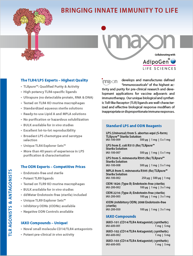 Innaxon Product Flyer 2018