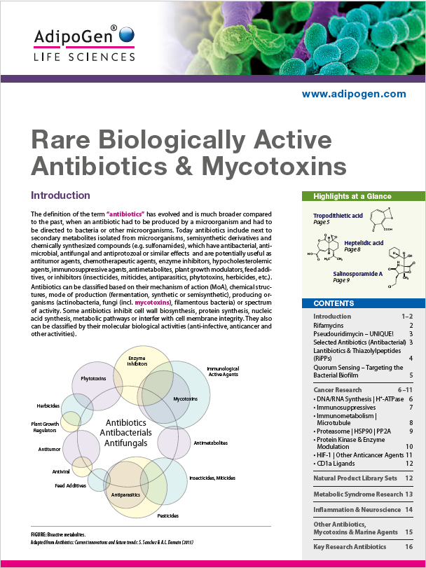 Rare Biologically Active Antibiotics & Mycotoxins Brochure 2018