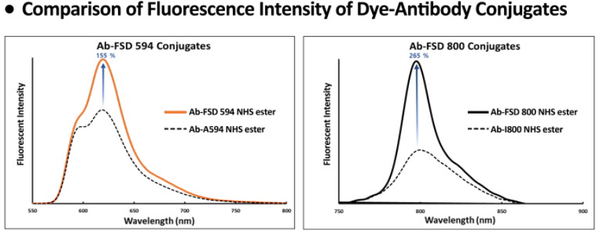 FSD Dyes Fluorescence Intensiyt of Antibody-Dye Conjugates