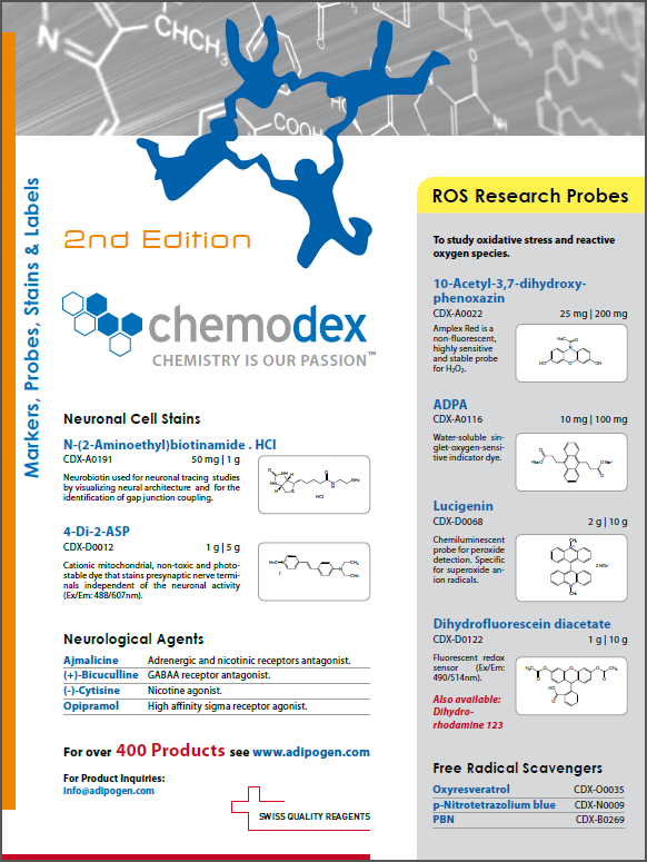 Chemodex 2014 2nd Edition Product Flyer