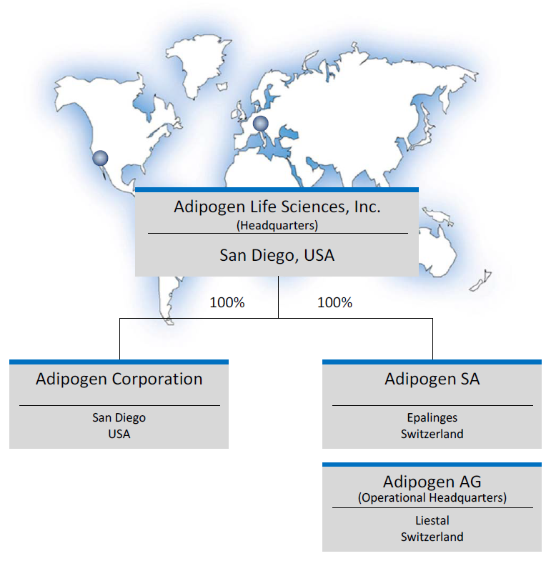 AdipoGen Life Sciences Overview Map